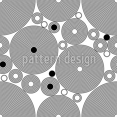 Hypnotische Kreise Designmuster