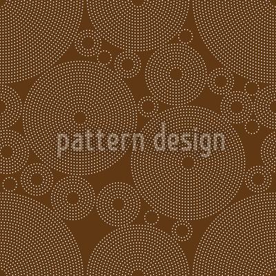 Konturierte Kreise Rapportiertes Design