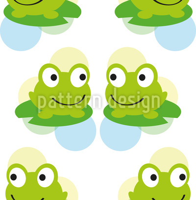 Frosch Zwillinge Nahtloses Vektormuster