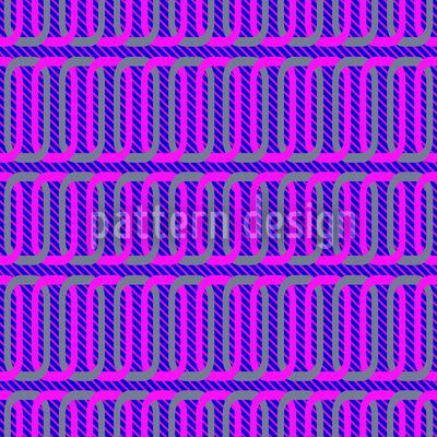 Purple Chains Vector Ornament