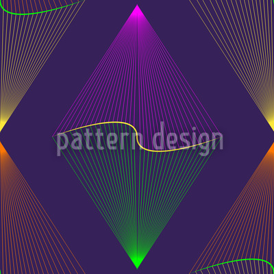 Purple Lanterns Seamless Vector Pattern