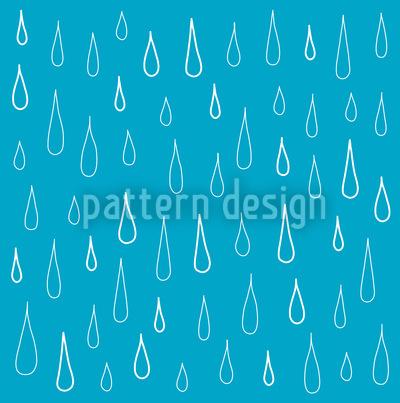 Gotas Azuis Design de padrão vetorial sem costura