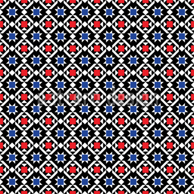 Traditional Scandinavia Vector Pattern