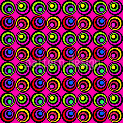 Psychedelic Pink Repeating Pattern