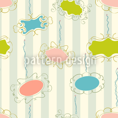 Frames On Stripes Seamless Pattern