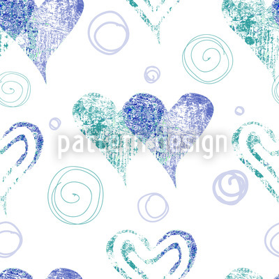 Twin Hearts Repeating Pattern