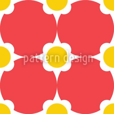 Blumenpunkte Muster Design