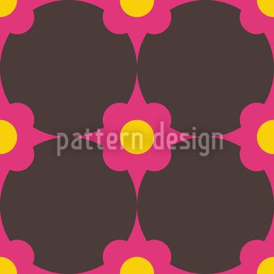 Flowerdots Pink Pattern Design