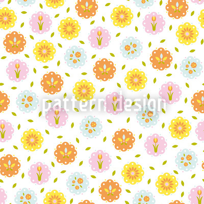 Sunny Flowers Vector Pattern