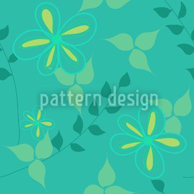 Lebendige Flora Rapportiertes Design