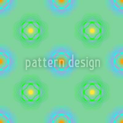 Sphärische Blumen Nahtloses Muster