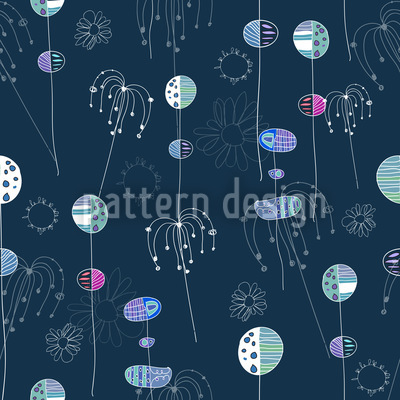 Fantasia Blum Seamless Vector Pattern