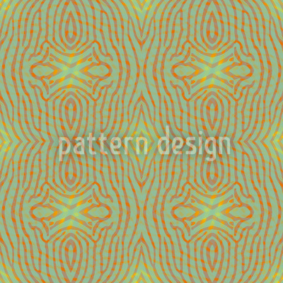 Ethno Z Green Repeating Pattern