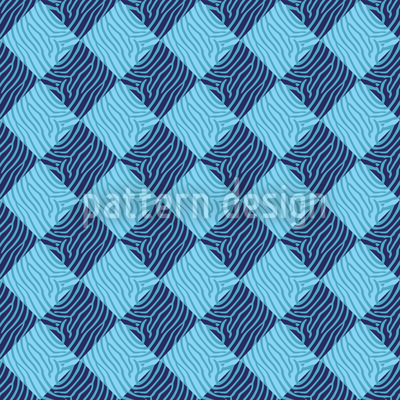 Zebralike Blue Seamless Pattern