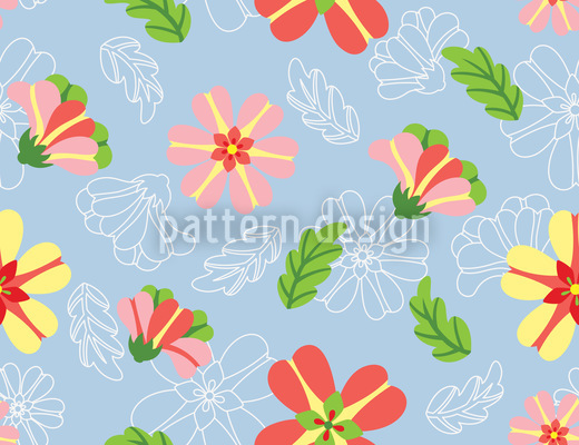 Frosting Flowers Seamless Vector Pattern Design