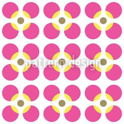 Kreisrunde Blumen Nahtloses Vektor Muster