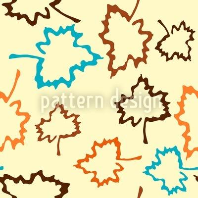 Naturo Yellow Seamless Vector Pattern Design