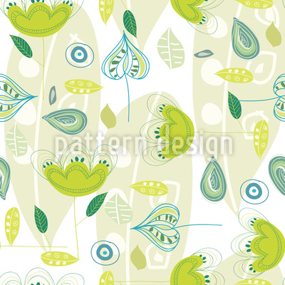 Yellow Dance Seamless Vector Pattern