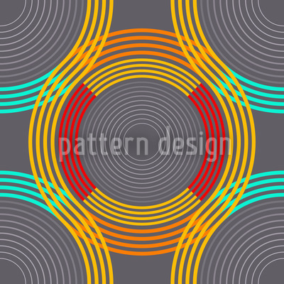 Poly Rings Vector Pattern