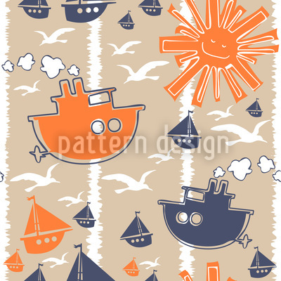 Regata Estampado Vectorial Sin Costura