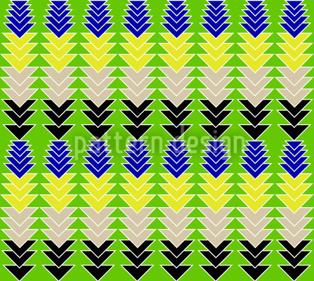 Pfeile Auf Grün Nahtloses Vektor Muster