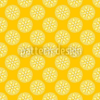 Fantasie Schauplatz Gelb Musterdesign