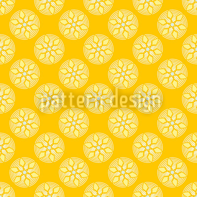 Fantasy Pit Yellow Pattern Design