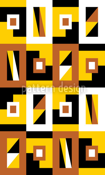 Sun Square Seamless Pattern