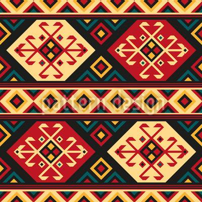 Colorful Kilim Repeating Pattern