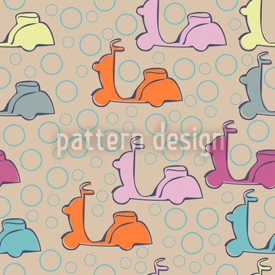 Scooter Seamless Vector Pattern