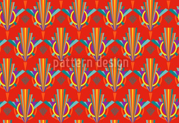 Art Deco brilhante Design de padrão vetorial sem costura