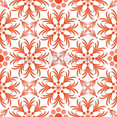 Orange Blumen Vektor Design