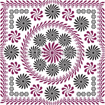 Floralia Vintage Nahtloses Muster