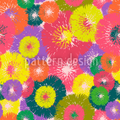 Thistle Pop Seamless Vector Pattern Design