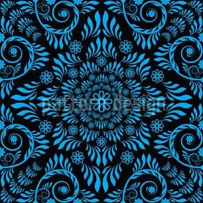 Blaues Blühen Nahtloses Muster