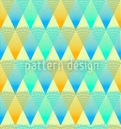 Überall Helle Diamanten Nahtloses Vektor Muster