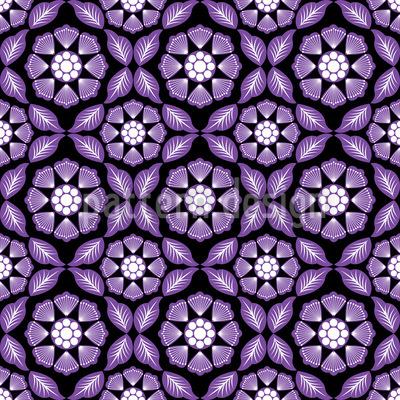 Violet Dreams Vector Ornament