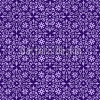 Violettas Dream Journeys Seamless Vector Pattern