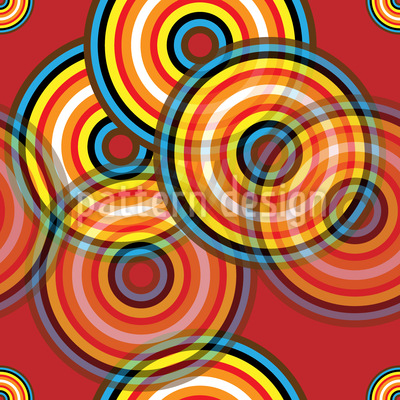 Colored Circles Repeat Pattern