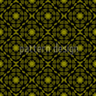Yellow Paradies Seamless Vector Pattern