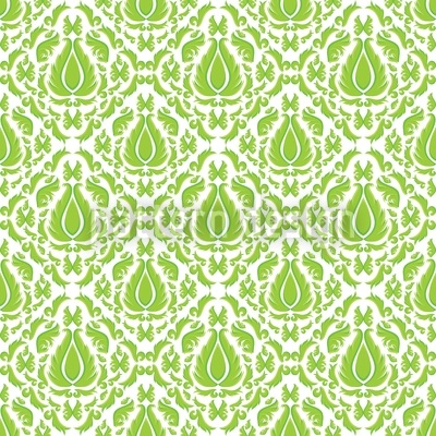 Green Fire Vector Pattern