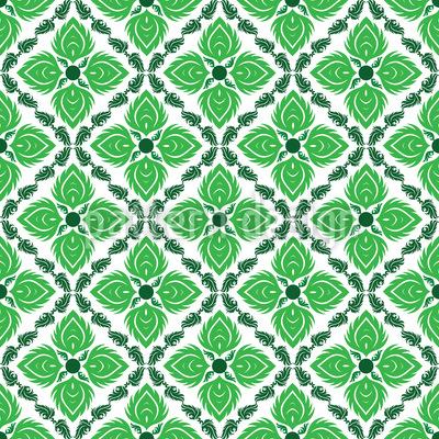 Verde Cativante Design de padrão vetorial sem costura