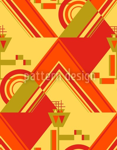 Deco Triangles Vector Ornament