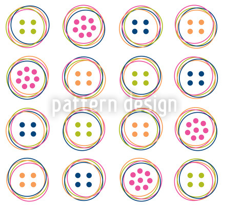 Fun Button Repeating Pattern
