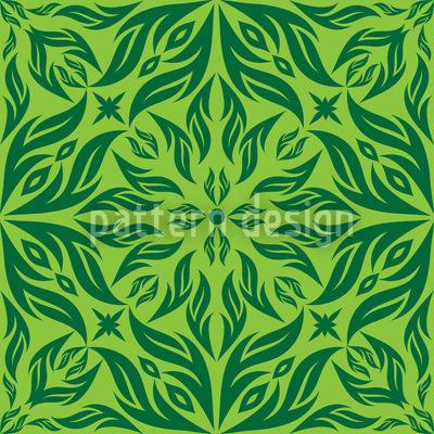 Sonho de Flor Verde Design de padrão vetorial sem costura