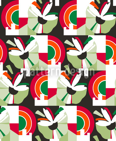 Inflorescence Green Vector Ornament