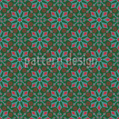 Retro Blumen Nahtloses Muster