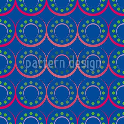 Dots N Ring Nahtloses Muster