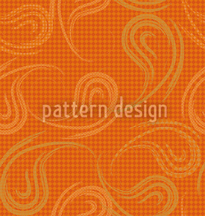Loose Paisley Cinnamon Pattern Design