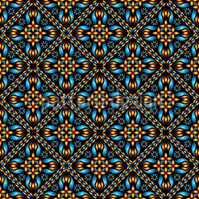 Orange Und Blau Musterdesign